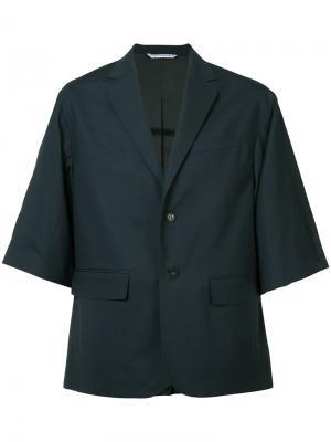 Двубортный пиджак Oamc. Цвет: синий