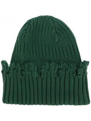 Трикотажная шапка Liam Hodges. Цвет: зелёный