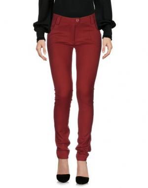 Повседневные брюки 22 MAGGIO BY MARIA GRAZIA SEVERI. Цвет: красно-коричневый