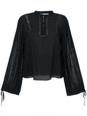 Plisse long sleeved blouse Anine Bing. Цвет: чёрный