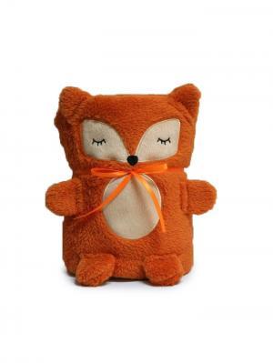 Трансформер Плед-Игрушка Оранжевая Лисичка 60x90 см Склад Уникальных Товаров. Цвет: рыжий