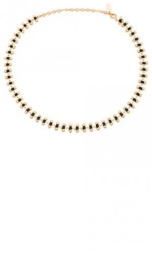 Смоляной чокер joolz by Martha Calvo. Цвет: металлический золотой