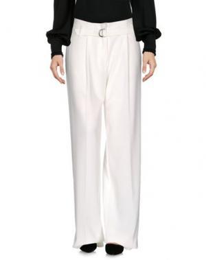 Повседневные брюки MY SIS. Цвет: белый