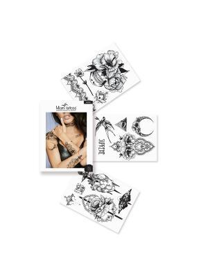 Комплект переводных тату Miami Tattoos Wicked. Цвет: черный