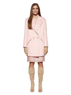 Пальто APART. Цвет: розовый