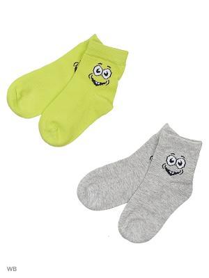 Носки детские трикотажные для мальчиков, 2 пары в комплекте PlayToday. Цвет: светло-серый