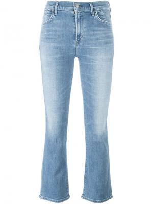 Укороченные джинсы буткат Citizens Of Humanity. Цвет: синий