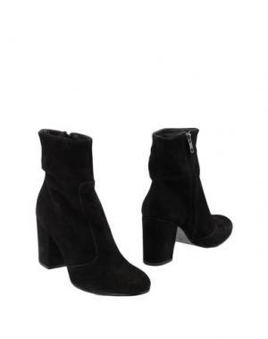 Полусапоги и высокие ботинки LEONARDO PRINCIPI. Цвет: черный