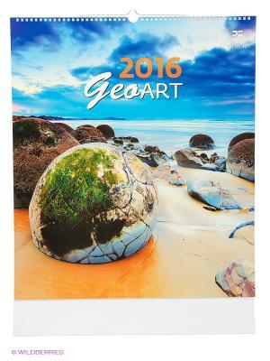 Календарь Geo Art (Гео Арт) КОНТЭНТ. Цвет: белый