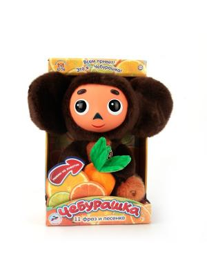 Мягкая игрушка Мульти-Пульти Чебурашка 25 см, озвученный.. Цвет: коричневый, черный