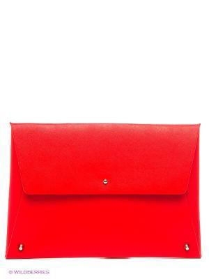 Клатч Sinequanone. Цвет: красный