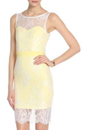 Платье PAPER DOLLS. Цвет: lemon