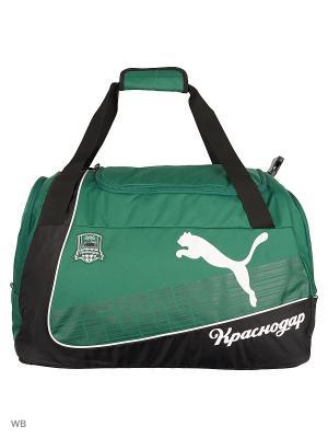 Сумка Krasnodar Team Medium Bag Puma. Цвет: черный, зеленый