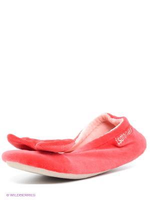 Тапочки Isotoner. Цвет: красный