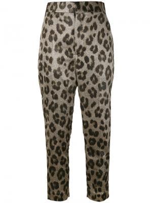 Зауженные брюки с леопардовым принтом Haider Ackermann. Цвет: телесный