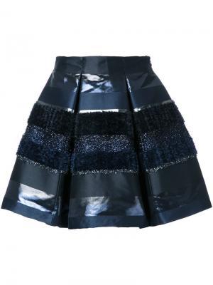 Фактурная юбка Ingie Paris. Цвет: чёрный