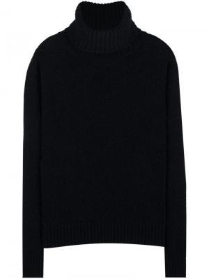 Объемный свитер с высокой горловиной Ami Alexandre Mattiussi. Цвет: чёрный