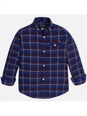Рубашка Mayoral. Цвет: синий
