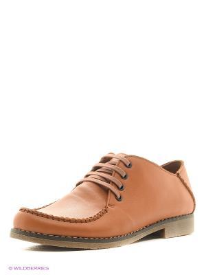 Ботинки DAKKEM. Цвет: рыжий