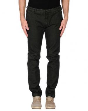 Повседневные брюки MANUEL RITZ WHITE. Цвет: темно-зеленый