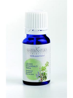 Эфирное Масло Сандаловое дерево Sandalwood India, 2 мл Mater Natura. Цвет: оливковый