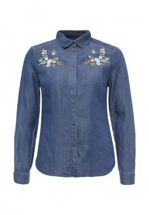 Рубашка джинсовая Zarina. Цвет: синий