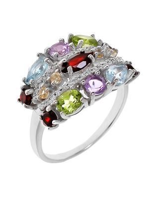 Кольцо BALEX. Цвет: голубой, серебристый, сиреневый, красный, зеленый