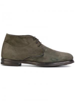 Туфли оксфорды на шнуровке Andrea Ventura. Цвет: зелёный