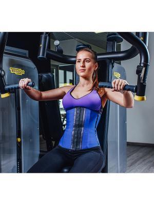 Фитнес корсет Waist trainer Siluet. Цвет: синий