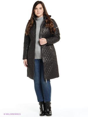 Пальто Finn Flare. Цвет: темно-коричневый