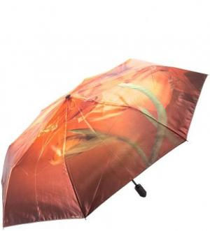 Складной зонт с сатиновым куполом FLIORAJ. Цвет: цветочный принт