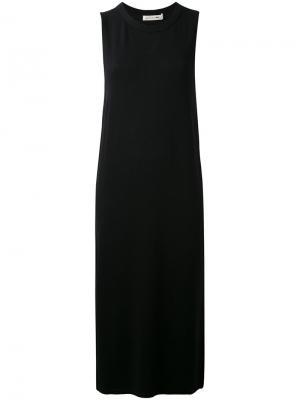 Платье-шифт с разрезами сбоку Rag & Bone. Цвет: чёрный