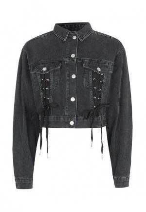 Куртка джинсовая Topshop. Цвет: серый