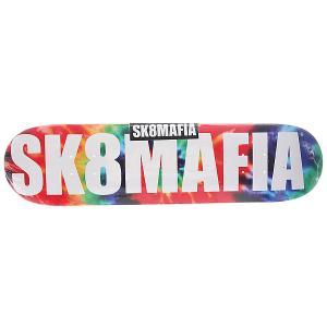 Дека для скейтборда  Og Logo Tye Dye 31.75 x 7.75 (19.7 см) Sk8mafia. Цвет: мультиколор