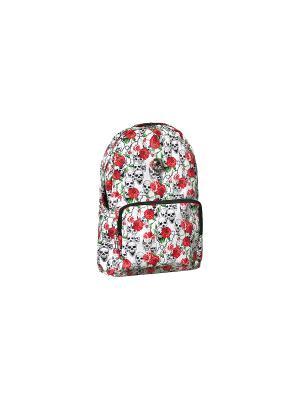 Рюкзак с черепами Skulls (белый) Kawaii Factory. Цвет: белый, красный