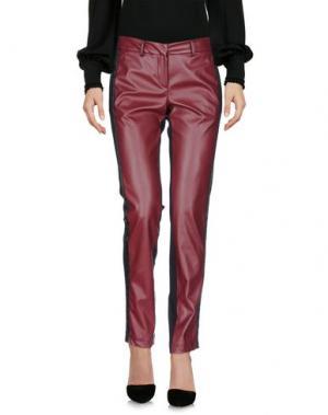 Повседневные брюки SONIA FORTUNA. Цвет: красно-коричневый