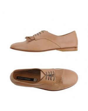 Обувь на шнурках ALBERTO FERMANI. Цвет: песочный