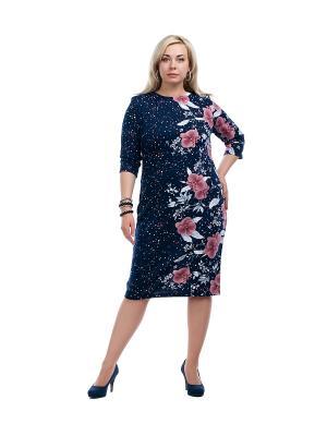 Платье OLSI. Цвет: синий