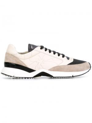Кроссовки с панельным дизайном Brunello Cucinelli. Цвет: телесный