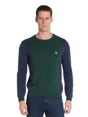 Джемпер U.S. Polo Assn.. Цвет: зеленый