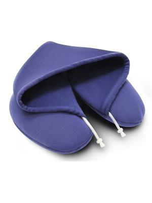 Подушка Капюшон для путешествий Luomma. Цвет: синий