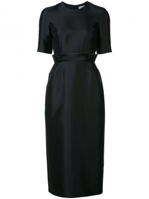 Pleated waist midi dress Gabriela Hearst. Цвет: чёрный