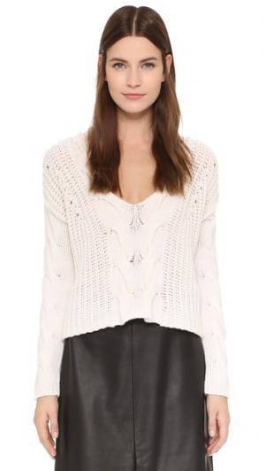Объемный укороченный свитер с V-образным вырезом Tess Giberson. Цвет: золотой
