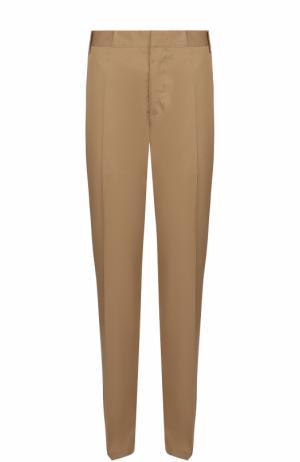 Хлопковые брюки чинос Lanvin. Цвет: темно-бежевый