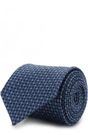 Шелковый галстук Z Zegna. Цвет: голубой