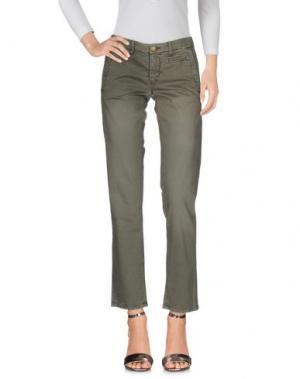 Джинсовые брюки MONOCROM. Цвет: зеленый-милитари