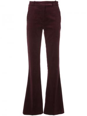 Расклешенные брюки Martin Grant. Цвет: красный