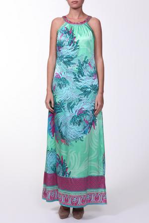 Платье Hale Bob. Цвет: салатово-голубой