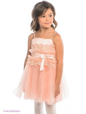 Платье ERKUT. Цвет: персиковый