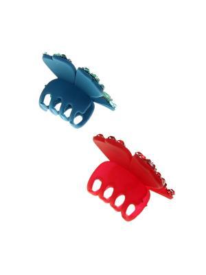 Заколка-краб (2 шт.) Happy Charms Family. Цвет: синий, красный